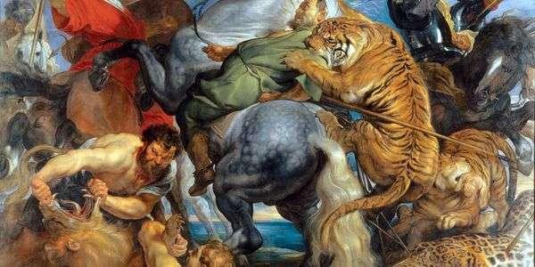 トラやライオンの狩り   Peter Rubens