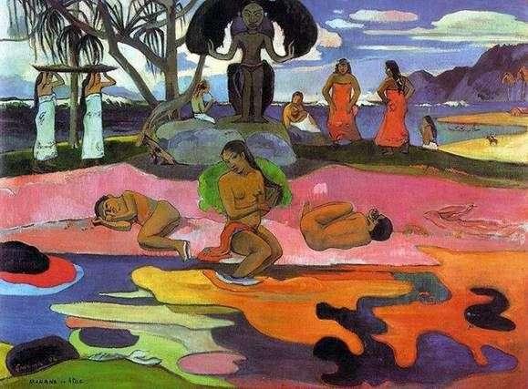神々のいない日(神の日   マハナ、ナトゥア)   Paul Gauguin