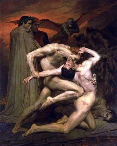 地獄のダンテとヴァージル   Adolph Bouguero