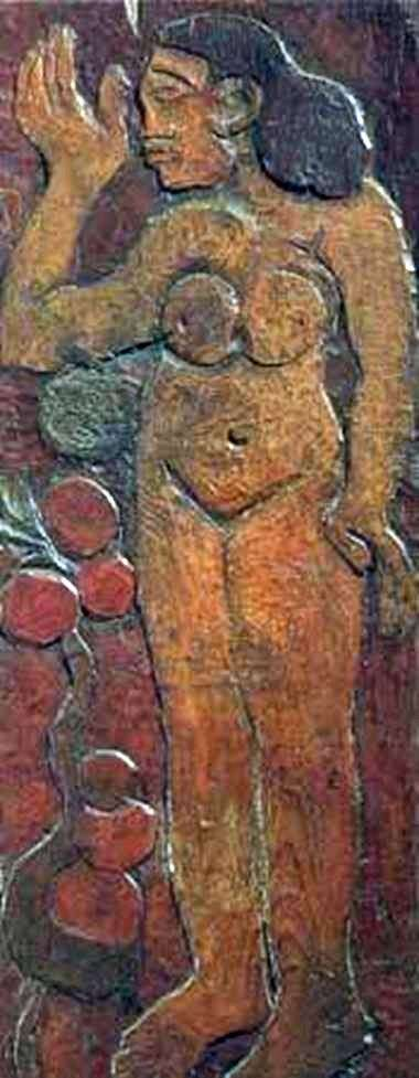 木の彫刻   ポール・ゴーギャン