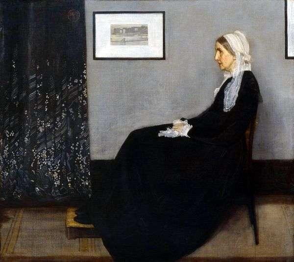 グレーと黒の1番に配置:母親の肖像   ジェームズウィスラー