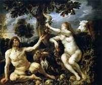 アダムとイブの誘惑   Jacob Jordaens