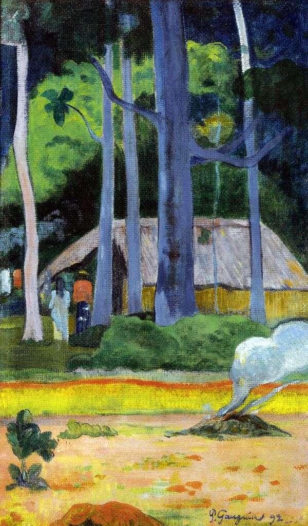 木々の下の家   Paul Gauguin