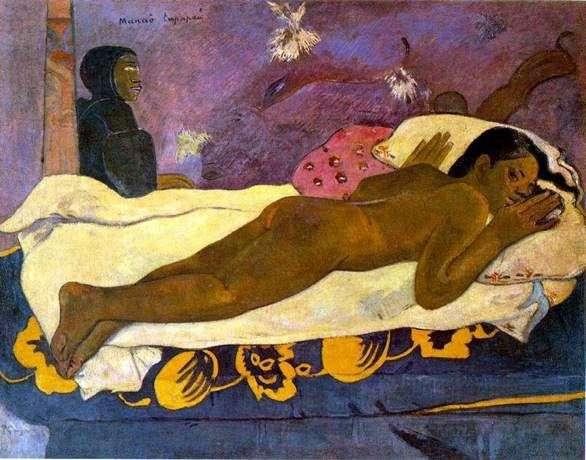 死者の精神が待っています(死者の精神は眠りません)   Paul Gauguin