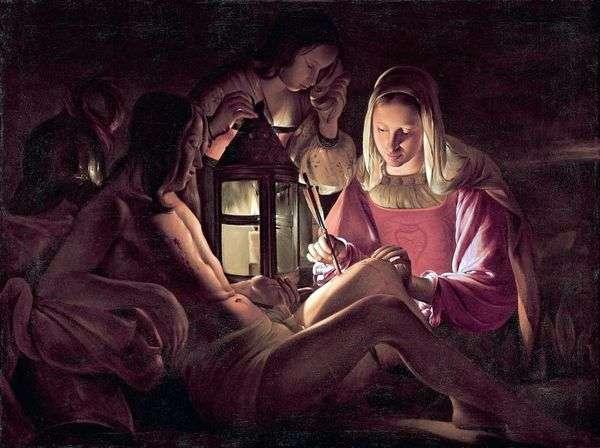 聖セバスチャンと聖妻   Georges de La Tour