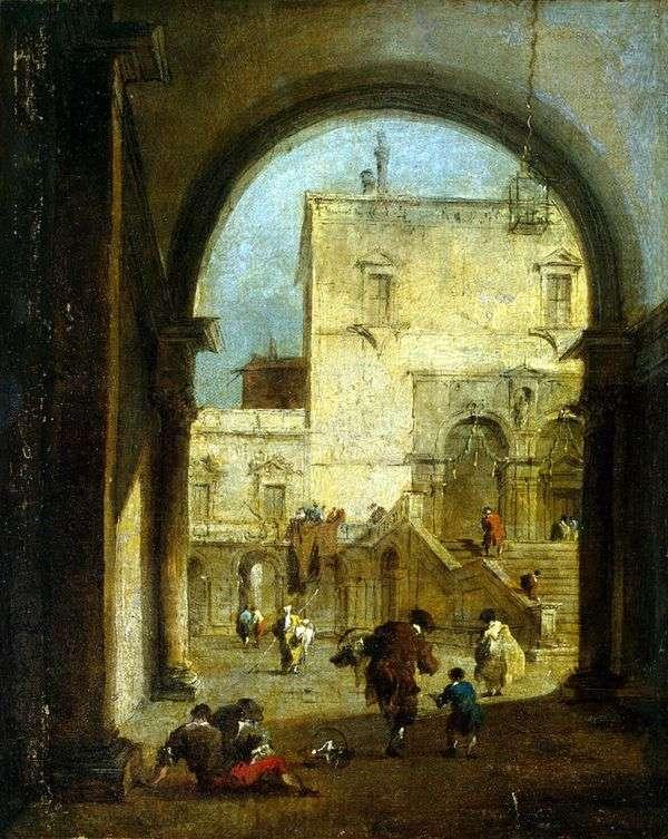 宮殿のある広場   Francesco Guardi