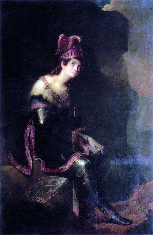 Z. A. Volkonskaya   Fedor Bruniの肖像