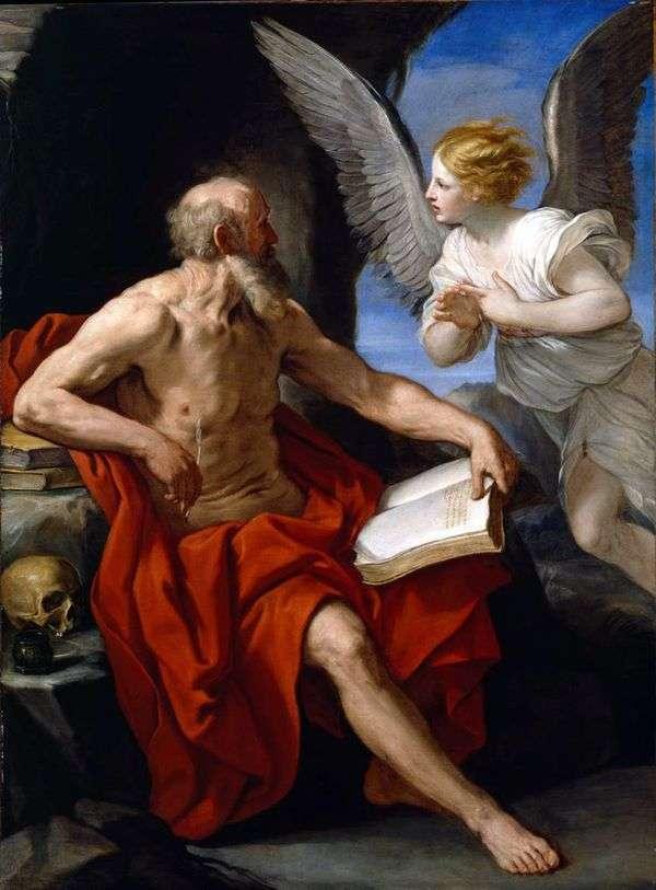 聖ジェロームと天使   Renee Guido