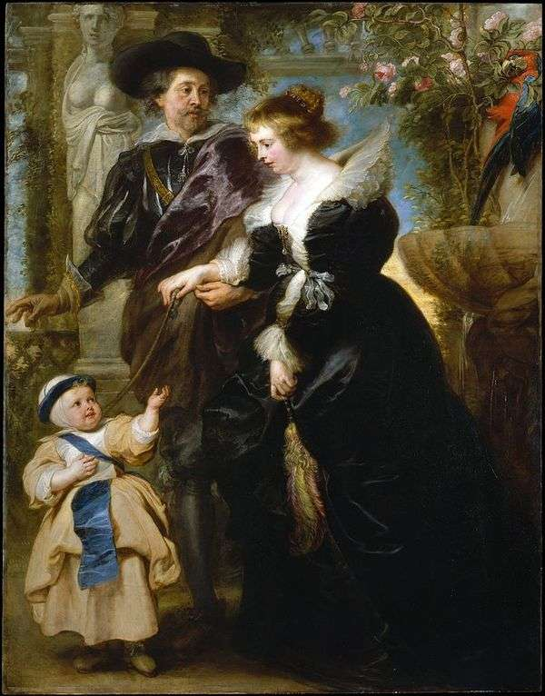 Peter Rubens、彼の妻Helen Fourmentそして彼らの息子   Peter Rubens