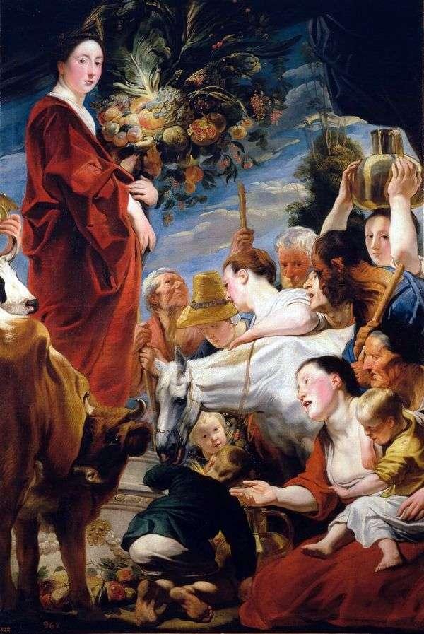 収穫の女神、セレスへの捧げ物   Jacob Jordaens