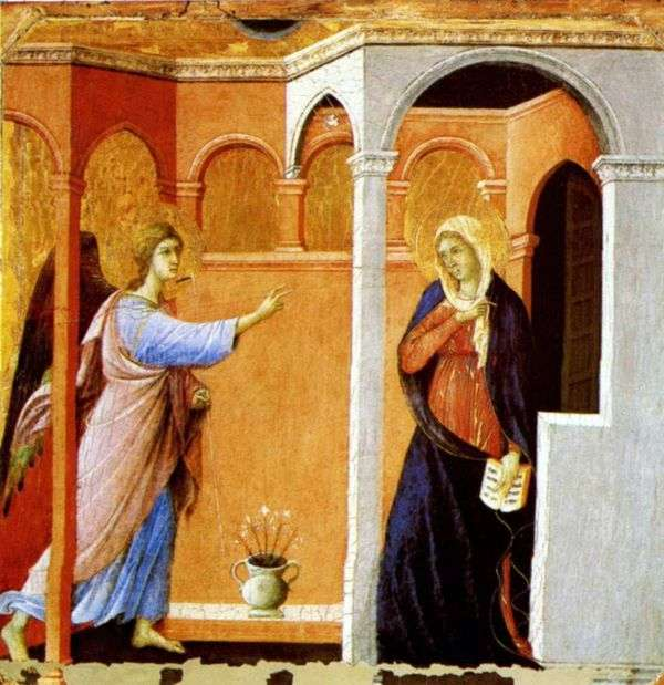 受胎告知   Duccio di Buoninsegna