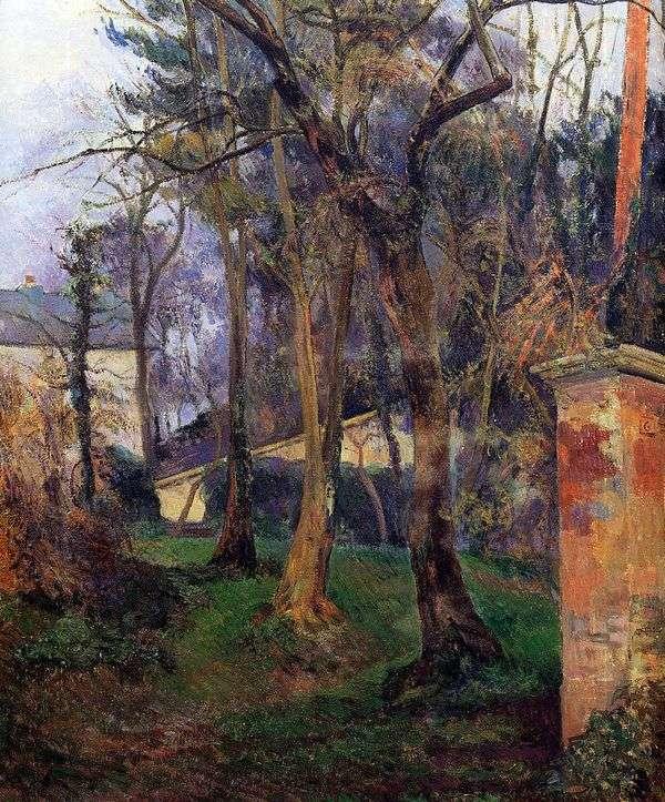 放棄された庭   ポールゴーギャン
