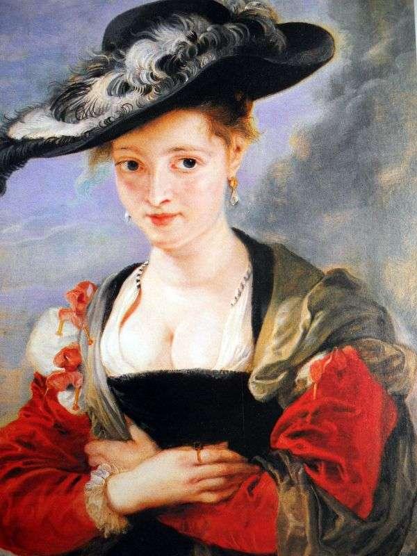 麦わら帽子の女性の肖像   Peter Rubens