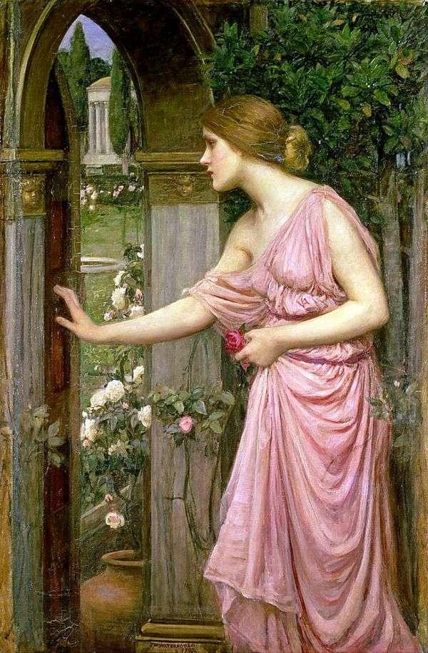 精神がキューピッドの庭への扉を開く   ジョンウィリアムウォーターハウス