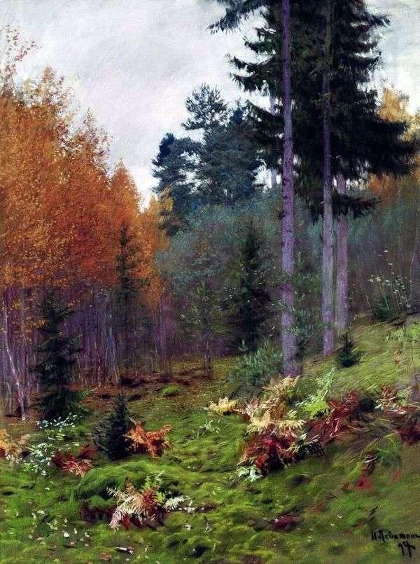 秋の森の中   Isaac Levitan
