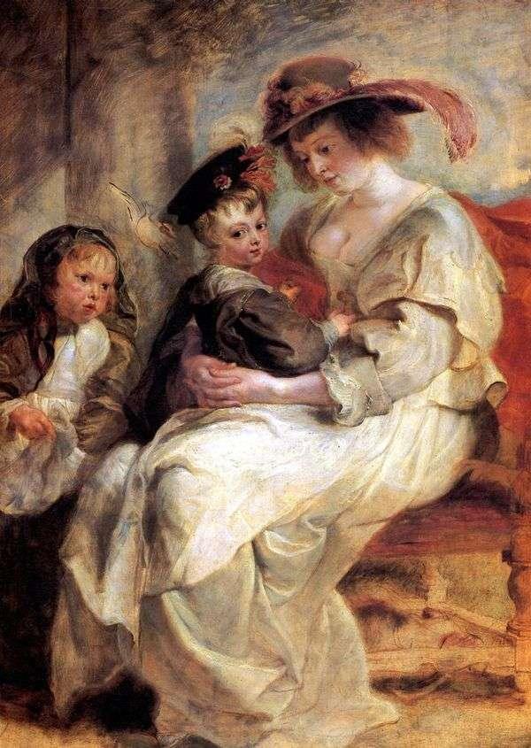 2人の子供と一緒にエレナフォーマンの肖像   Peter Rubens