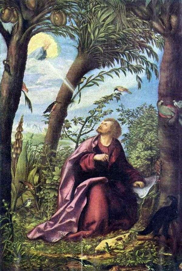 伝道者の聖ヨハネについて。パトモス   ハンス・ブルクマイアー