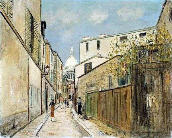 サクレクール寺院とサンラスティック通り   Maurice Utrillo