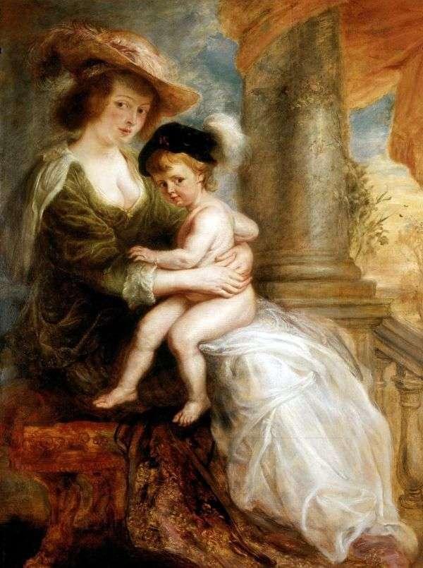 長男フランツ   ピータールーベンスとエレナFourmentの肖像