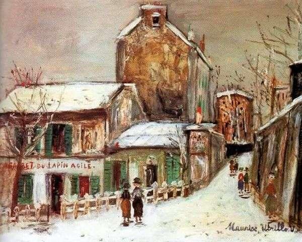 カフェ「Frisky Rabbit」   Maurice Utrillo