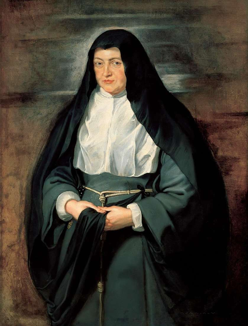 修道女の衣装   ピータールーベンスのインファンタイザベラの肖像画