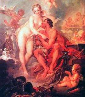 金星と火山   フランソワ・ブーシェ