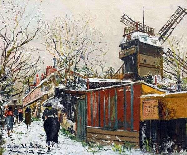 雪の中のムーラン・ド・ラ・ガレット   Maurice Utrillo