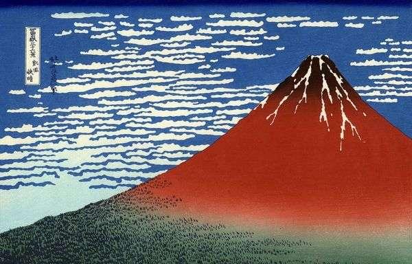 勝利の風、晴れの日「赤富士」   葛飾北斎