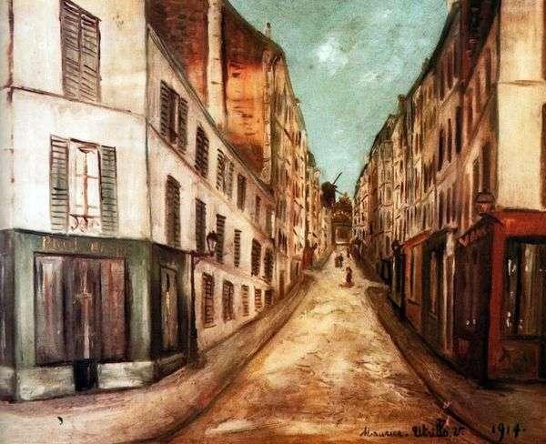 パリストリート   モーリスユトリロ