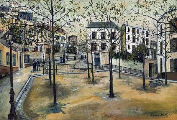 Square Ravignan   Maurice Utrillo
