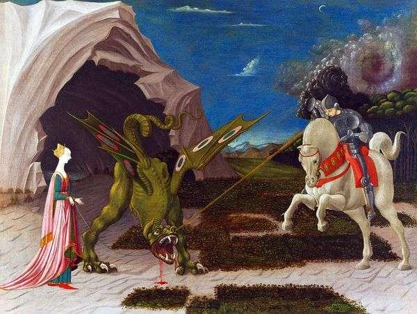 ドラゴンと聖ジョージの戦い   Paolo Uccello