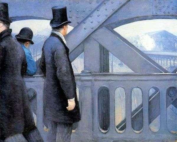 ヨーロッパの橋の上   ギュスターヴ・カイボット