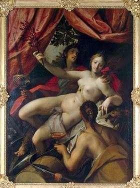 平和、芸術、そして豊かさの寓意   Hans von Aachen
