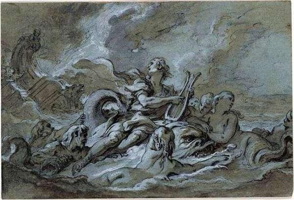 スケッチ「水」   Francois Boucher