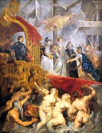 マルセイユのマリーデメディチの到着   Peter Rubens