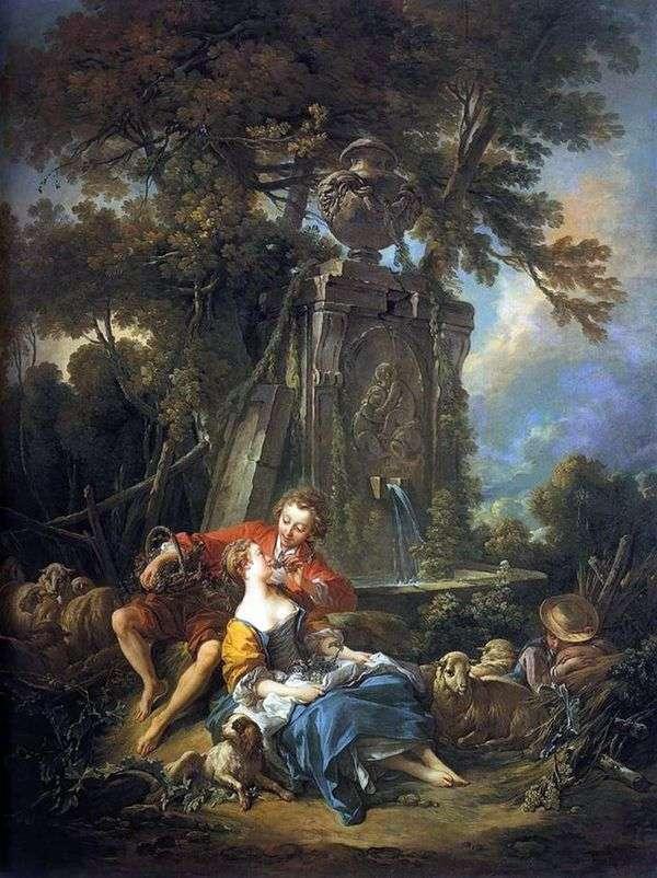 秋の牧歌   フランソワブーシェ