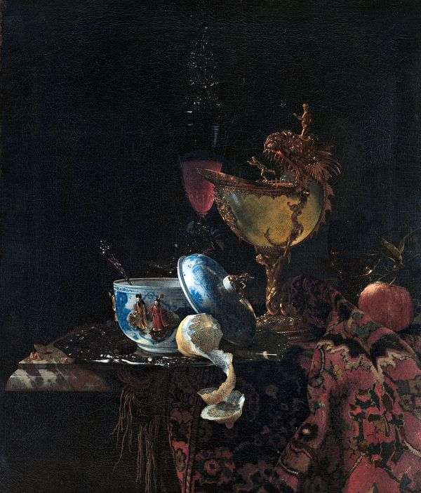 一杯の真珠殻のある静物   Willem Calf