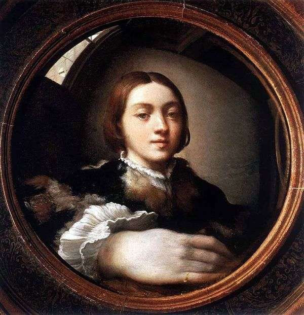 鏡の中の自画像   Francesco Parmigianino