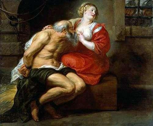 ローマの慈悲(ジモンと羽)   Peter Rubens