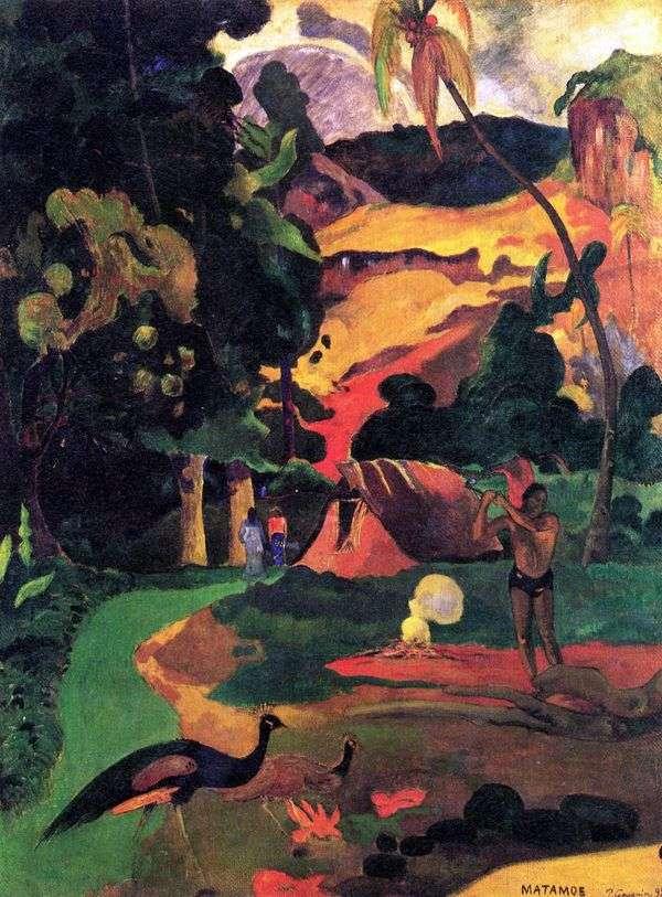 孔雀のいる風景   Paul Gauguin