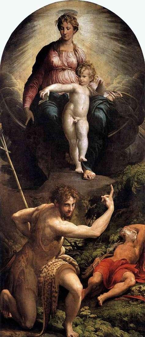 聖ジェロームのビジョン   Francesco Parmigianino