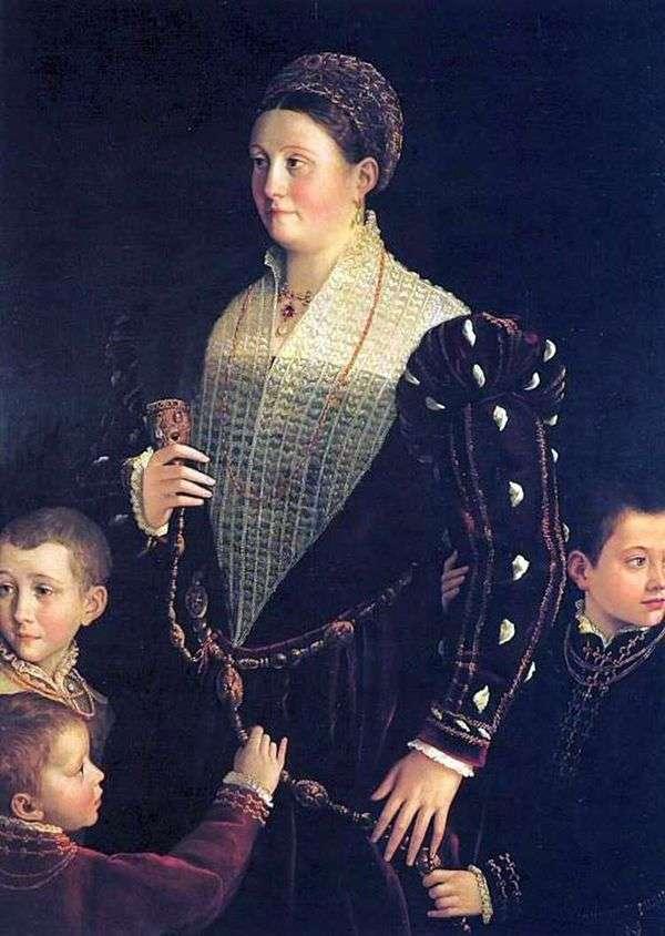 サンセコンドと子供のいる   フランチェスコ・パルミジャニーノ
