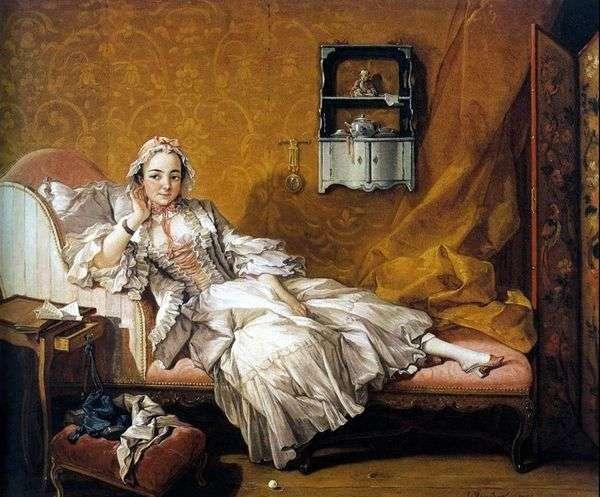 画家の妻マリー=ジャンヌ・ブゾ   フランソワ・ブーシェの肖像
