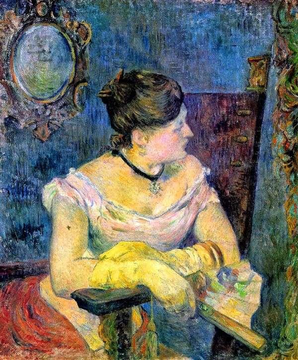 イブニングドレス   ポールゴーギャンのマダムゴーギャンの肖像画