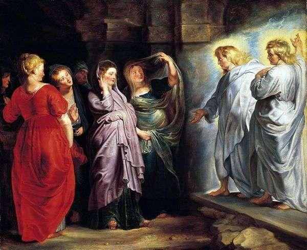 キリストの墓にいる聖なる女性   Peter Rubens