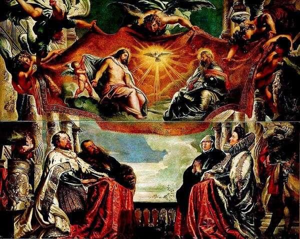 ゴンザガ家は三位一体を崇拝する   Peter Rubens