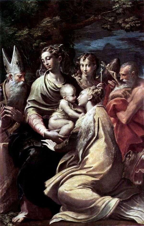 聖マーガレットと他の聖人とのマドンナ   Francesco Parmigianino