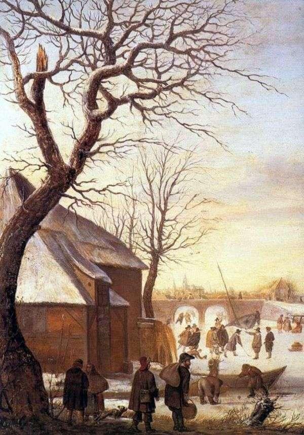 冬の風景   Hendrick Averkamp
