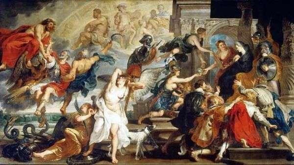 ヘンリー4世の死と摂政宣言   Peter Rubens