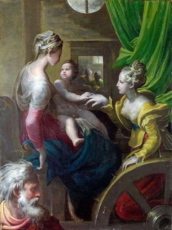聖カタリナの神秘的な婚約者   Francesco Parmigianino